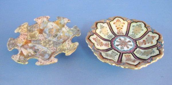 16: 2 Japanese Porcelain Dishes: Children & A Floral