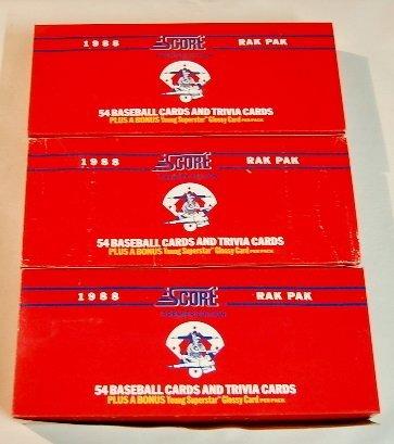 2: 3 Boxes 1988 Score Baseball & Trivia Cards
