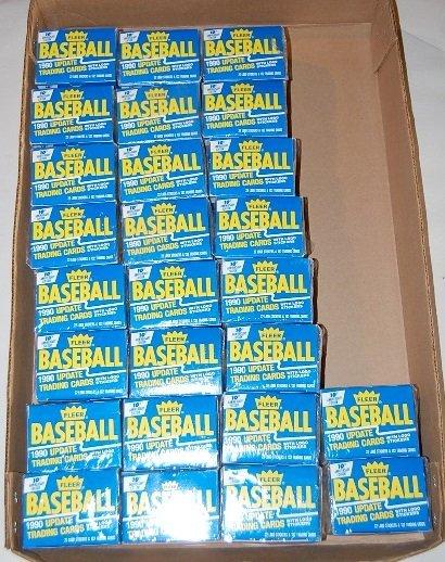 3: 20 Boxes Fleer Baseball Update Trading Cards