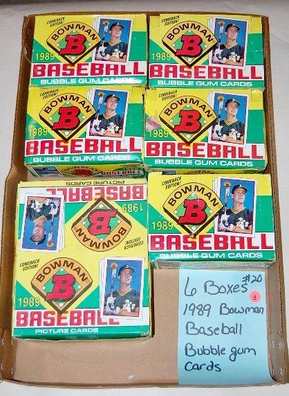 4: 6 Boxes Bowman 1989 Baseball Cards