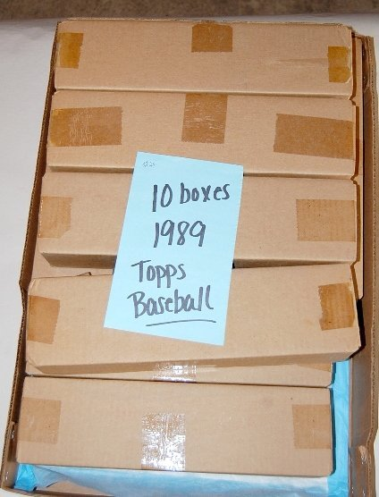 6: 10 Boxes 1989 Topps Baseball Cards