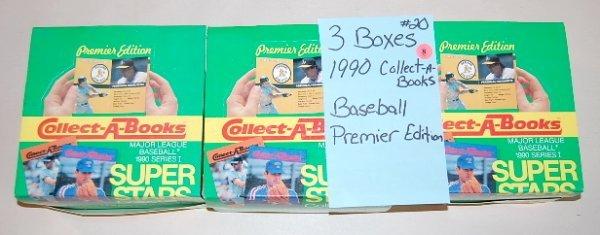8: 3 Boxes 1990 Superstar Baseball Sets