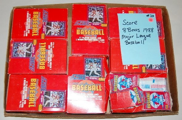 11: 8 Boxes Score 1988 Baseball Player Cards w/Motion