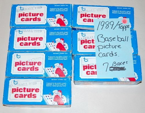 12: 7 Boxes 1989 Topps Baseball Picture Cards