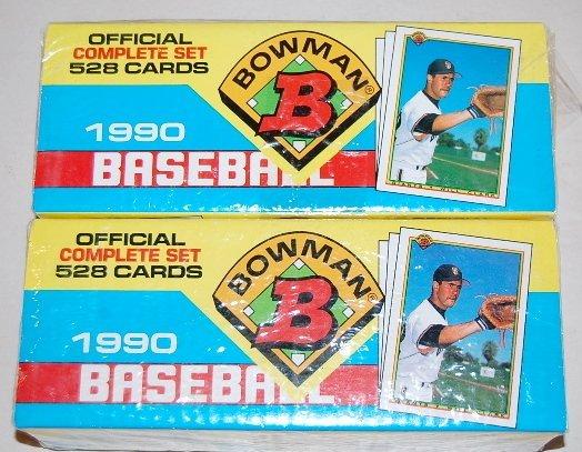 17: 2 Boxes 1990 Bowman Baseball Cards Complete Sets