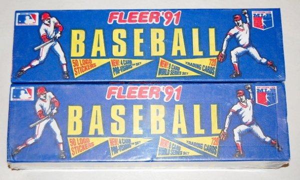 18: 2 Boxes 1991 Fleer Baseball Card Sets