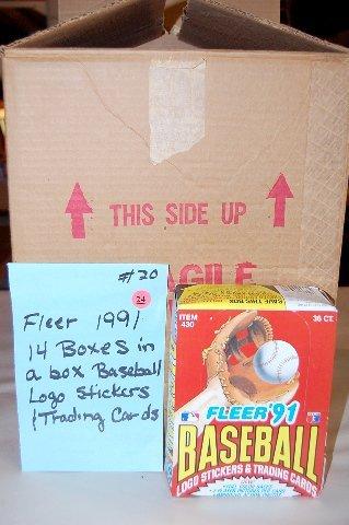24: 14 Boxes 1991 Fleer Baseball Trading Cards
