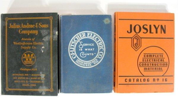 4: 3 Vintage Electric Company Catalogs