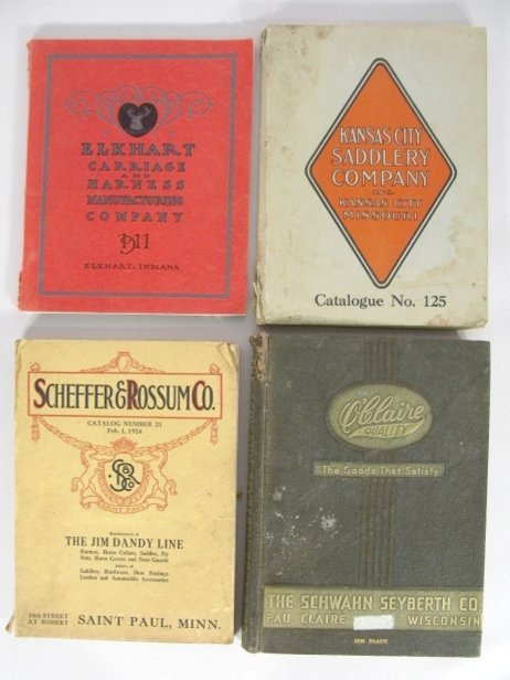 8: 4 Vintage Catalogs for Carriages & Harnesses