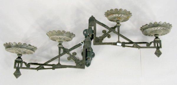 9: Antique Cast Iron Double Arm Wall Bracket