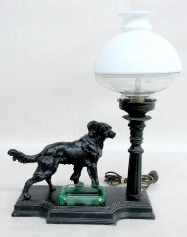 17: Electric Figural Dog Desk Lamp