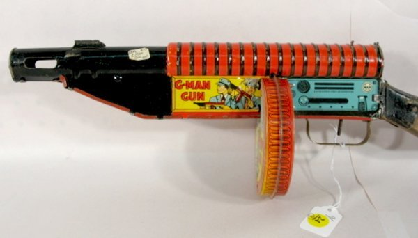 24: 4 Vintage Toy Machine Guns: Marx, Mattel, Plus  - 10