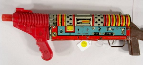 24: 4 Vintage Toy Machine Guns: Marx, Mattel, Plus  - 2