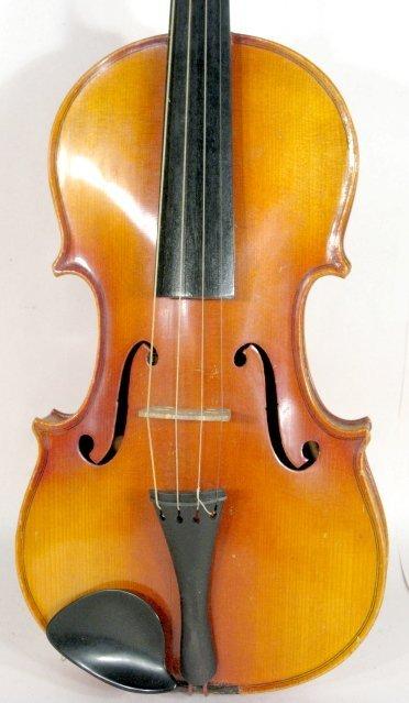 171: Copy of Antonius Stradivarius Violin in Case - 4