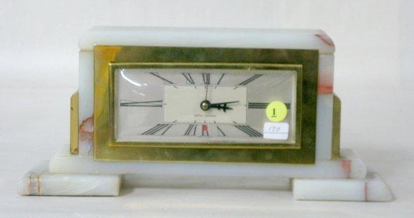 1: Seth Thomas Electric Onyx Desk Clock