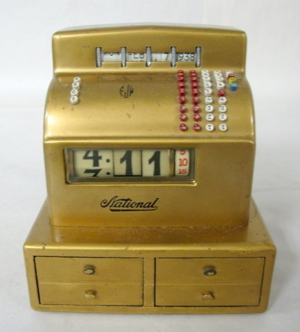 5: Miniature NCR Cash Register Clock