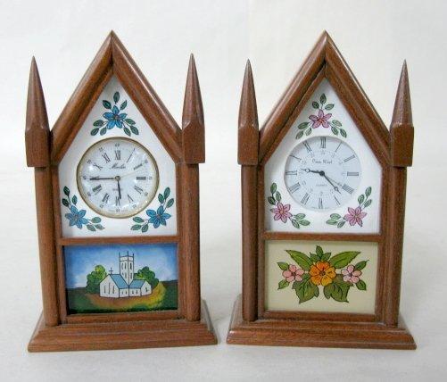 6: Pair of Miniature Reproduction Steeple Clocks