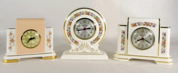 11: 3 Mastercrafters & Lanshire Pottery Clocks
