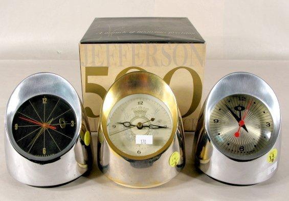 14: 3 Jefferson Electric Desk Clocks