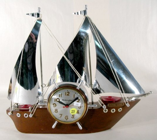 """25: Mastercrafters """"Flying Cloud"""" Ship Clock"""