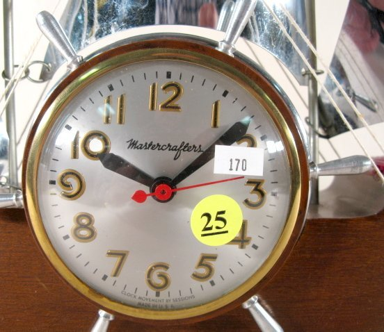 """25: Mastercrafters """"Flying Cloud"""" Ship Clock - 2"""