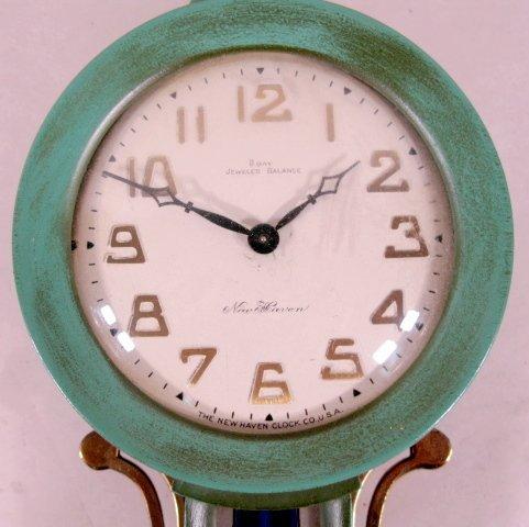 79: 2 New Haven Willis Miniature Banjo Clocks - 5