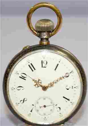 .900 Emilio Masson Habana Niello OF Pocket Watch