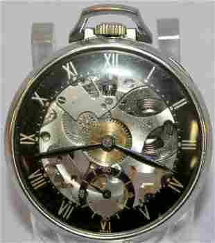 Girard Perregaux Skeletonized 7J Pocket Watch