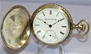 Coin Elgin 7-17J 18S HC Pocket Watch