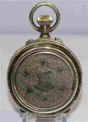.875 Silver Arni Richard-Geneve 15 Ruby Jewels Pocket