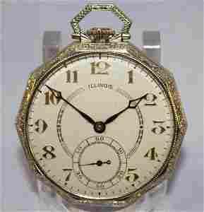 14KWG Illinois 121 21J OF Pocket Watch