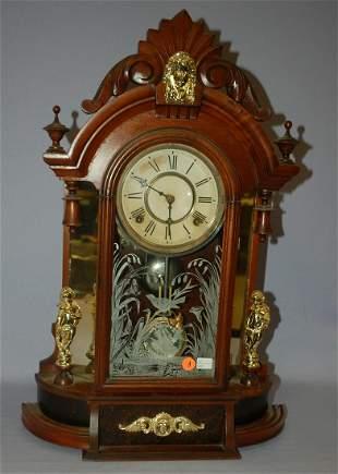 "Antique Gilbert Walnut ""Occidental"" Mirrorside Parlor"