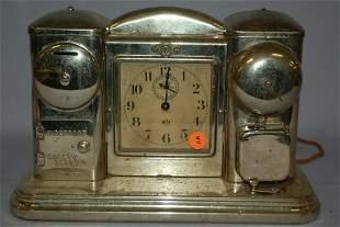 Antique DCOM 8 Day Hotel Alarm Clock with Light