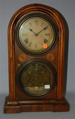 "Antique Ingraham ""Venetian"" Walnut Mantle Clock"