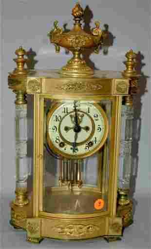 """Antique Ansonia """"Jupiter"""" Crystal Regulator Clock"""