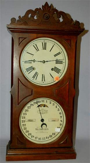 Antique Ithaca #10 Farmers Calendar Clock