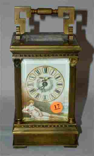 20th Century Brass Carriage Clock