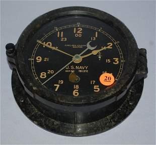 Antique Chelsea Clock Co. Ships Bell Clock