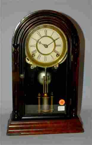Antique Atkins Round Top Mantle Clock