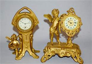 Lot of 2. Ansonia and New Haven Novelty Clocks