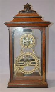 Ithaca Box Skeleton Double Dial Clock.