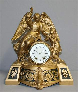 Seth Thomas & Sons Figural Clock - Angel & Girl