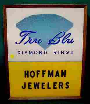 Tru-Blue Diamond Rings Jewelers Lighted Sign NR