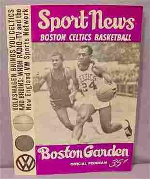 Boston Celtics '65-66 Official Program XXXVIII NR