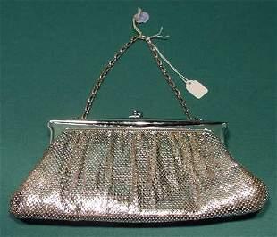 Whiting & Davis #2887 Metal Mesh Bag w/ Mirror NR