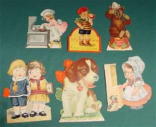 10 Vintage Mechanical Fold Out Valentine Cards NR