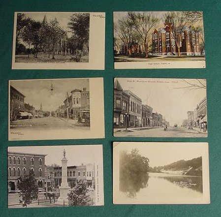 514: 9 Tama Iowa Postcards IA River High School etc NR