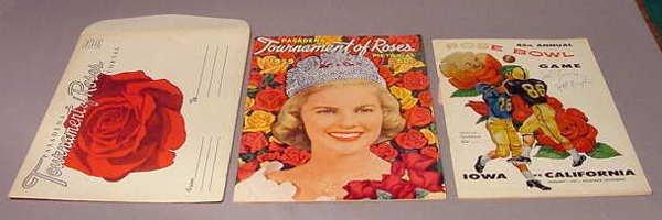 520: Iowa Hawkeye 1959 Rose Bowl Game Autographed