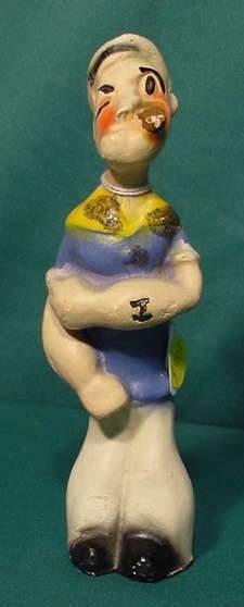 Popeye Carnival Chalkware Figurine NR