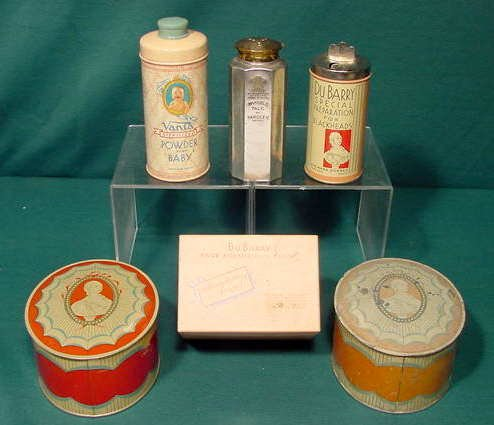 520A: 10pc Tin & Vanity Items Containers: DuBarry NR